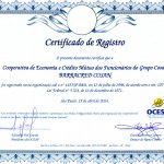 Certificado de registro OCESP